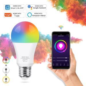 Lâmpada inteligente tuya, lâmpada led rgb | R$ 64