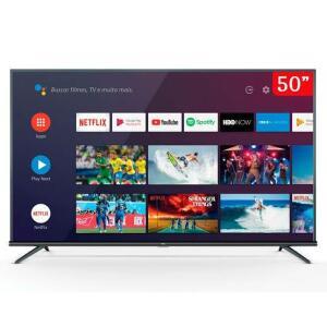 SMART TV LED 50 Polegadas TCL 50P8M 4K UHD HDR | R$1.899