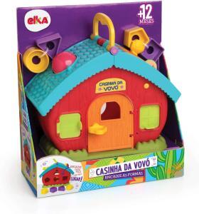 [Prime] Brinquedo Casinha da Vovó Encaixe Formas, Elka | R$ 44