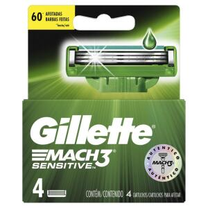 Carga para aparelho de barbear Gillette mach3 4 unidades R$20