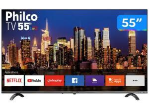"""Smart TV 4K UHD D-LED 55"""" Philco PTV55Q20SNBL- R$1.989"""