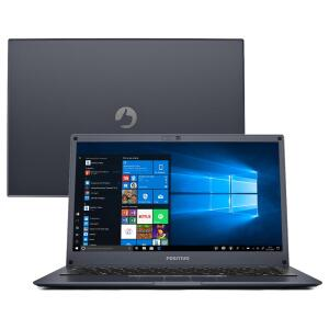 """Notebook Positivo Quad Core 4GB 64GB SSD Tela 14"""" Windows 10 Motion Plus Q464B"""
