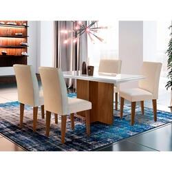 [CC Sub/ AME R$ 718] Conjunto de Mesa de Jantar Berlim com Vidro R$ 1197