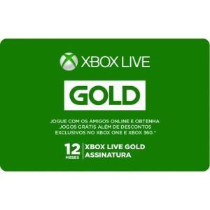 Gift Card Digital Xbox Live Gold 12 Meses | R$119,20
