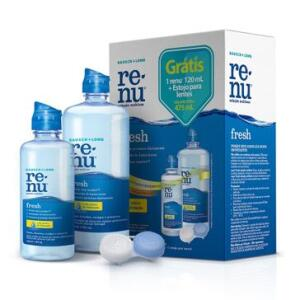 Solução Multiuso Renu Fresh 355ml + Renu Fresh 120ml + Estojo Para Lentes 1 unidade