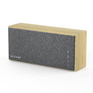 Caixa de som Bluetooth BlitzWolf® BW-HA1 Bamboo com Balanço de Graves | R$304