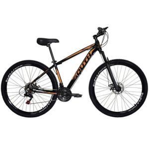 Bicicleta South Legend Aro 29 Alumínio Freios A Disco 24 Marchas - Preto e Laranja