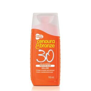 Protetor Solar Cenoura Bronze FPS 30 110ml - R$8