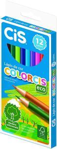 Lápis de Cor COLORCIS Eco - Estojo c/12 cores - CIS