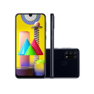 "Smartphone Samsung Galaxy M31 128GB Preto 4G Tela 6.4""   R$ 1699"