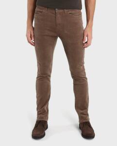 Calça Jeans Color Veludo Cotelê Slim - Marrom