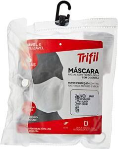 Kit com 6 Máscaras Microfibra Trifil (Branca)