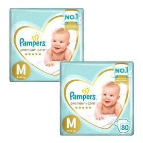 Fralda Pampers Premium Care M - 160 un. | R$148