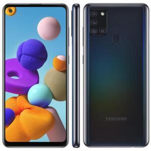 "Smartphone Samsung Galaxy A21s 6.5"" 64GB Câmera Quádrupla 48MP + 8MP + 2MP +2MP"