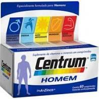 Suplemento Vitamínico Centrum Homem 60 Comprimidos | R$ 55