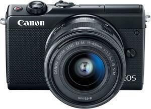 Câmera Digital Canon EOS M100 Mirrorless com Lente 15-45mm (Preto) | R$ 4.199