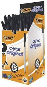 [Prime] Caneta Esferográfica, BIC, Cristal Dura, Preto, 50 Unidades | R$ 27