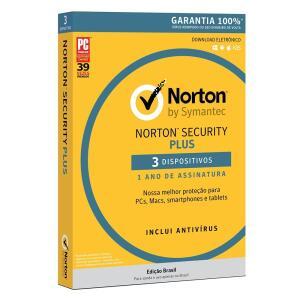 Norton Antivirus Security Plus - 3 Dispositivos - Digital para Download   R$29