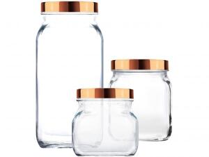 Jogo de Potes de Vidro Ruvolo Glass Company R$ 33