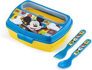 Lancheira com Talheres Disney Mickey - Lillo, Azul
