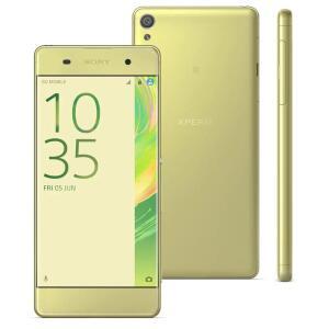 "Smartphone Sony Xperia XA F3116 Ouro Verde com 16GB, Tela Curva de 5"", Dual Chip | R$ 791"