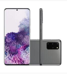 Smartphone Samsung Galaxy S20 Plus 128GB Cosmic Gray 4G Tela 6.7 Câmera Quádrupla 64MP Selfie 10MP Android 10