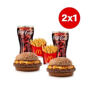 2 x 1 McOferta2x1 McOferta Média Cheddar - Coca Cola sem açúcar | R$ 6