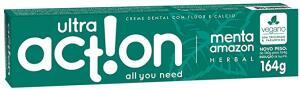 [PRIME] Creme Dental Ultra Action Menta Amazon - 98% ecológico - 164g | R$3,77
