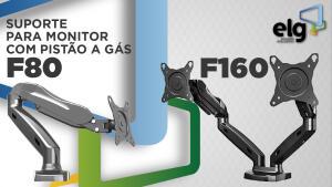ELG F80N - Suporte para Monitor de Mesa, Preto R$250