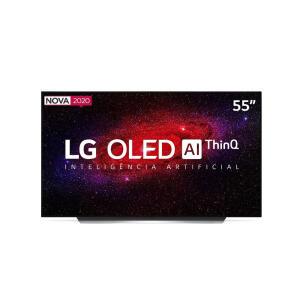 "Smart TV 4K LG OLED AI 55"" com Inteligência Artificial, Cinema HDR e Wi-Fi - OLED55CXPSA R$5999"