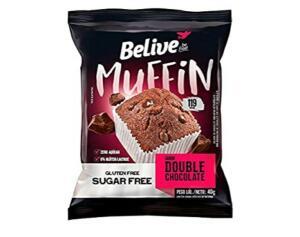 Muffin chocolate zero açúcar, sem gluten, sem lactose 40g | R$1,42