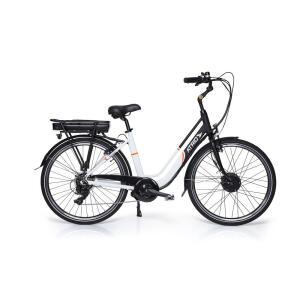 [AME por 2.889,28] Bicicleta Elétrica Atrio Barcelona Aro 26 250W Preto/Branco – BI183