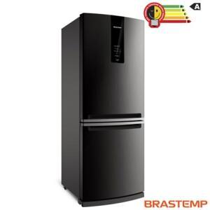 Refrigerador de 02 Portas Brastemp Frost Free com 443 Litros com Freezer Invertido Cor Inox - R$3299,90