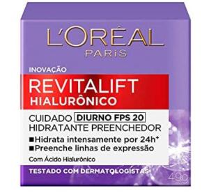 [Prime] Creme Revitalift Hialurônico Diurno Fps 20, L'Oréal Paris | R$ 39