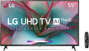 "Smart TV LG 55"" 4K UHD, WiFi, Bluetooth, HDR, - 55UN7310PSC | R$ 2559"