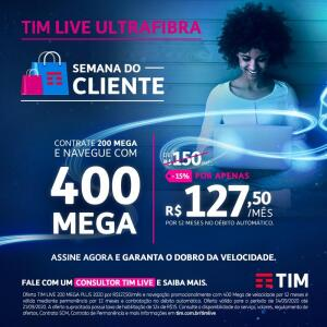 TIM LIVE | 400 MEGA ULTRA BANDA LARGA RESIDENCIAL