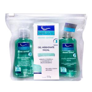 Kit Facial Nupill Derme Control Sabonete + Adstringente + Gel Hidratante