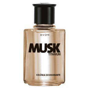 Colônia Desodorante Musk Titanium - 90ml (Primeira compra)