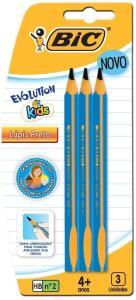 [PRIME] Lápis Preto Triangular HB nº2 - BIC - Evolution Kids - 3 Unidades | R$2,50