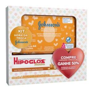 Johnson's Baby Kit - Creme para Assaduras + Toalhas Umedecidas   R$34
