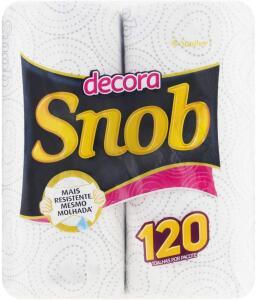 Papel toalha SNOB decora   R$ 3,64 na recorrência.