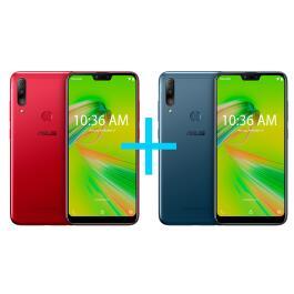 Smartphone ASUS Zenfone Max 3GB/64GB Vermelho + Smartphone ASUS Zenfone Max 3GB/64GB Azul | R$1619