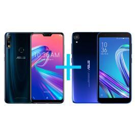 Smartphone Zenfone Max Pro 6GB/64GB Black Saphire + Smartphone Zenfone Live L2 Azul | R$1754
