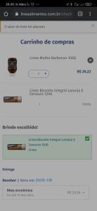 Compre produtos Linea e ganhe um Biscoito Integral Laranja E Cenoura 120G
