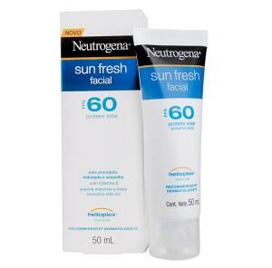 Protetor Solar Sun Fresh Facial FPS 60, Neutrogena, 50g