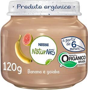 (Recorrência) Papinha Orgânica, Goiaba e Banana, Naturnes, 120g