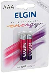 Prime pilha AAA palito Elgin recarregável   R$13