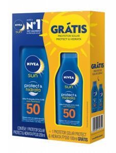 Kit Protetor Solar Corporal Nivea Sun Protect & Hidrata FPS50   R$43