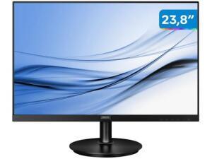 "(APP+Clube) Monitor para PC Philips Série V8 242V8A 23,8"" LED - Widescreen Full HD HDMI VGA IPS | R$644"
