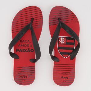 Chinelo Flamengo Raça Amor e Paixão Vermelho